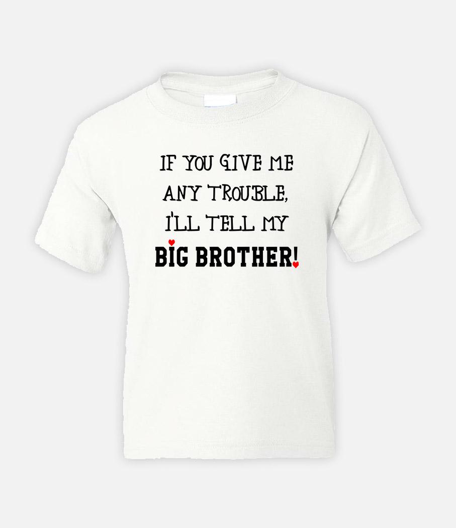ed003f46738 Παιδικές μπλούζες με σχέδιο Ι'll tell my brother