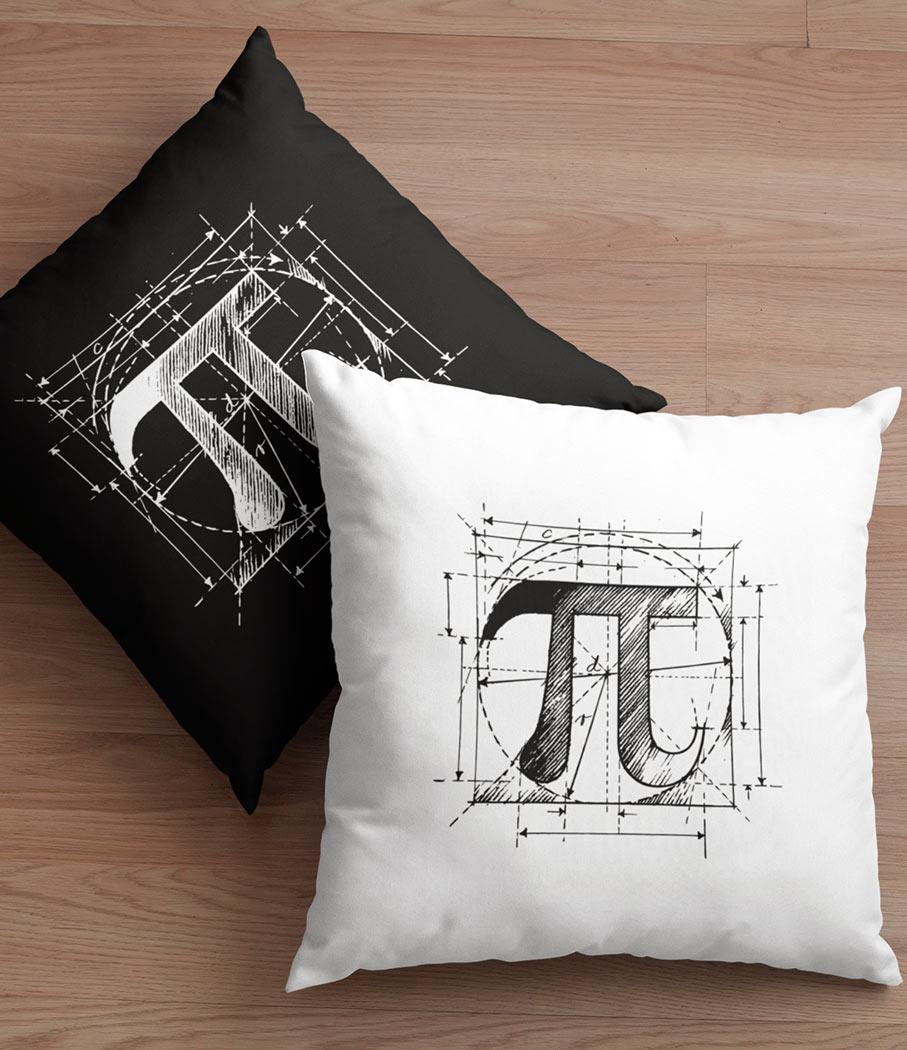Μαξιλάρι με το μαθηματικό σύμβολο π